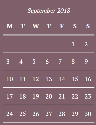 September Moon Phase Calendar